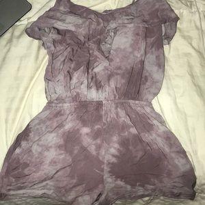 tie dye purple romper